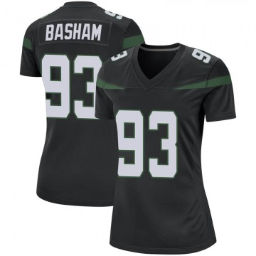 Women's Tarell Basham New York Jets Nike Game Jersey - Stealth Black