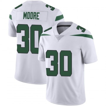Youth Jalin Moore New York Jets Nike Limited Vapor Jersey - Spotlight White