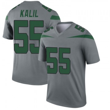 Youth Ryan Kalil New York Jets Nike Legend Inverted Jersey - Gray