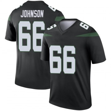 Youth Sterling Johnson New York Jets Nike Legend Color Rush Jersey - Stealth Black